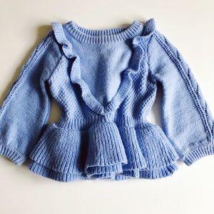 OshKosh B'gosh Shirts & Tops - LIKE NEW Periwinkle flutter sweater babygirl